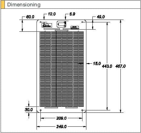 Sunware Solar Panel SW3063 12V 24 watt  Marine Module